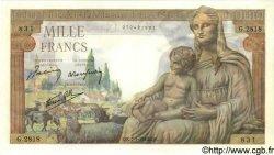 1000 Francs DÉESSE DÉMÉTER FRANCE  1943 F.40.15 SPL