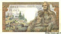 1000 Francs DÉESSE DÉMÉTER FRANCE  1943 F.40.15 pr.NEUF