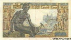1000 Francs DÉESSE DÉMÉTER FRANCE  1943 F.40.40 TTB