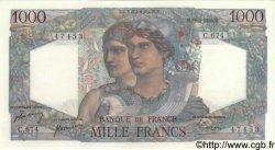1000 Francs MINERVE ET HERCULE FRANCE  1950 F.41.33 SPL+