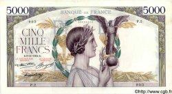 5000 Francs VICTOIRE Taille Douce FRANCE  1934 F.44.01 pr.SUP