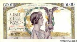 5000 Francs VICTOIRE Impression à plat FRANCE  1942 F.46.35