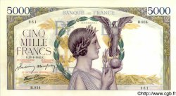 5000 Francs VICTOIRE Impression à plat FRANCE  1942 F.46.37 SPL