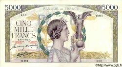5000 Francs VICTOIRE Impression à plat FRANCE  1942 F.46.39 SUP+