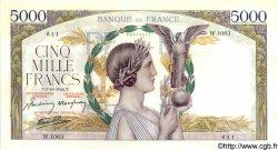 5000 Francs VICTOIRE Impression à plat FRANCE  1942 F.46.42 pr.SPL