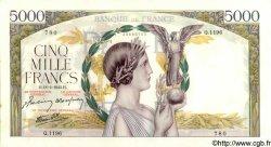 5000 Francs VICTOIRE Impression à plat FRANCE  1943 F.46.48 pr.SPL
