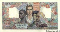 5000 Francs EMPIRE FRANÇAIS FRANCE  1945 F.47.42 SUP