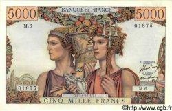 5000 Francs TERRE ET MER FRANCE  1949 F.48.01 SUP