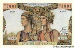 5000 Francs TERRE ET MER FRANCE  1949 F.48.02 SUP+