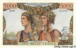 5000 Francs TERRE ET MER FRANCE  1951 F.48.03 SPL