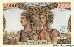 5000 Francs TERRE ET MER FRANCE  1951 F.48.05 SUP+