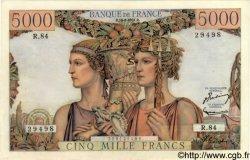 5000 Francs TERRE ET MER FRANCE  1951 F.48.05 SUP+ à SPL