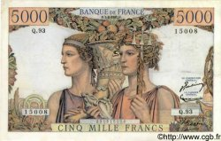 5000 Francs TERRE ET MER FRANCE  1952 F.48.06 TTB+