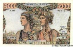 5000 Francs TERRE ET MER FRANCE  1952 F.48.07 SPL