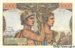 5000 Francs TERRE ET MER FRANCE  1953 F.48.10 SUP