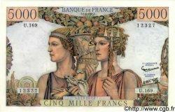 5000 Francs TERRE ET MER FRANCE  1957 F.48.15 pr.SPL