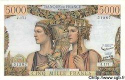 5000 Francs TERRE ET MER FRANCE  1957 F.48.16 SPL