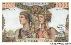 5000 Francs TERRE ET MER FRANCE  1957 F.48.17 pr.SPL