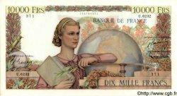 10000 Francs GÉNIE FRANÇAIS FRANCE  1954 F.50.69 SUP+ à SPL