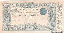 1000 Francs 1862 à la griffe bleue FRANCE  1863 F.A36 pr.NEUF