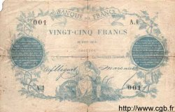 25 Francs 1870 PARIS FRANCE  1870 F.A43.01 TB