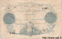 25 Francs CLERMONT FERRAND FRANCE  1870 F.A44.01 TTB