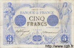 5 Francs NOIR FRANCE  1872 F.01.07 B+