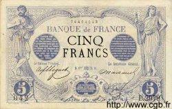 5 Francs NOIR FRANCE  1873 F.01.21 TTB