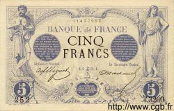 5 Francs NOIR FRANCE  1873 F.01.24 SUP