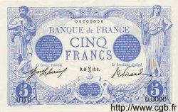 5 Francs BLEU FRANCE  1913 F.02.00s2 NEUF