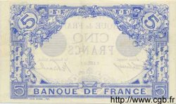 5 Francs BLEU FRANCE  1913 F.02.21 SUP