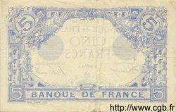 5 Francs BLEU FRANCE  1915 F.02.26 TTB