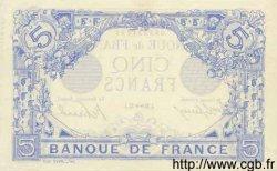5 Francs BLEU FRANCE  1915 F.02.33 SPL