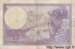 5 Francs VIOLET FRANCE  1920 F.03.04 pr.TB