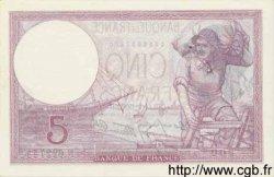 5 Francs VIOLET modifié FRANCE  1939 F.04.08 SUP à SPL