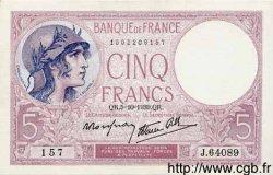 5 Francs VIOLET modifié FRANCE  1939 F.04.11 SPL