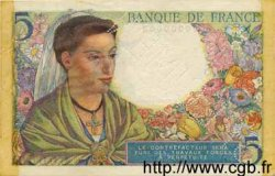 5 Francs BERGER FRANCE  1943 F.05.00 SUP