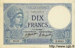 10 Francs MINERVE FRANCE  1922 F.06.06 SUP+