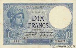 10 Francs MINERVE FRANCE  1924 F.06.08 TTB
