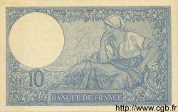 10 Francs MINERVE FRANCE  1925 F.06.09 SUP+