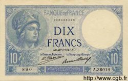 10 Francs MINERVE FRANCE  1927 F.06.12 SUP