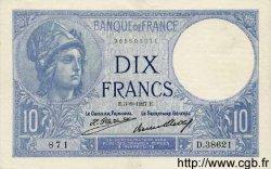 10 Francs MINERVE FRANCE  1927 F.06.12 pr.SPL