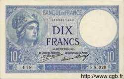10 Francs MINERVE FRANCE  1930 F.06.14 SUP