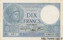 10 Francs MINERVE modifié FRANCE  1939 F.07.02 pr.NEUF