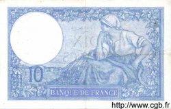 10 Francs MINERVE modifié FRANCE  1939 F.07.07 TTB