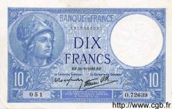 10 Francs MINERVE modifié FRANCE  1939 F.07.08 SUP+