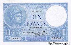 10 Francs MINERVE modifié FRANCE  1939 F.07.09 pr.SPL
