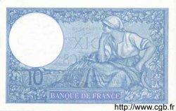 10 Francs MINERVE modifié FRANCE  1939 F.07.11 NEUF