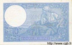 10 Francs MINERVE modifié FRANCE  1939 F.07.13 TTB à SUP