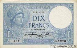 10 Francs MINERVE modifié FRANCE  1940 F.07.16 TTB+